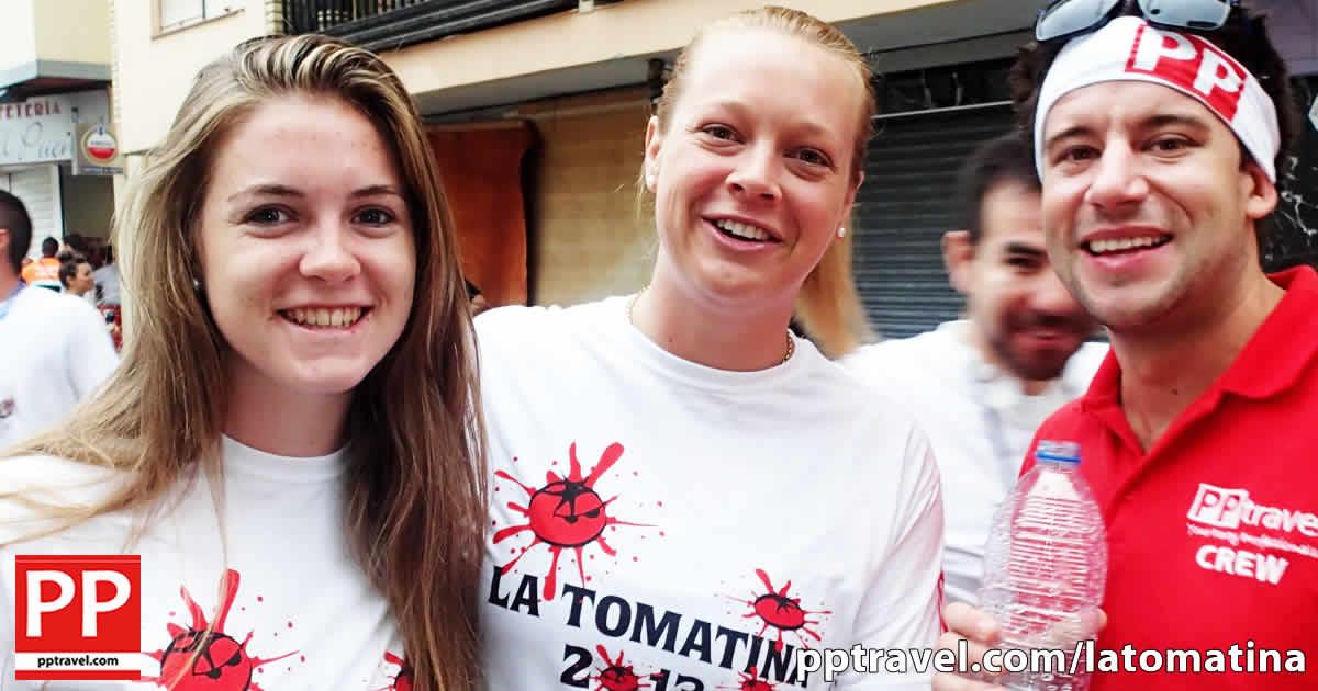 Girls and PP Travel Guide at La Tomatina