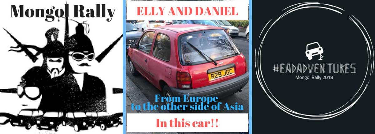 Daniel and Elly in the Mongol Rally as EADAdventures