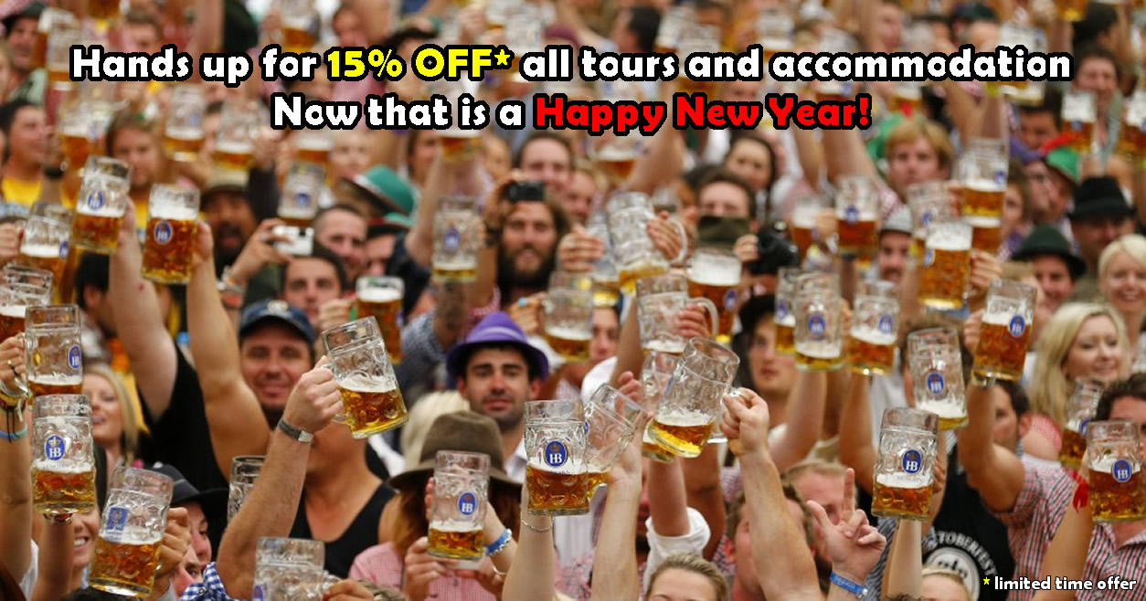 15% off on all tours and accommodation throughout January