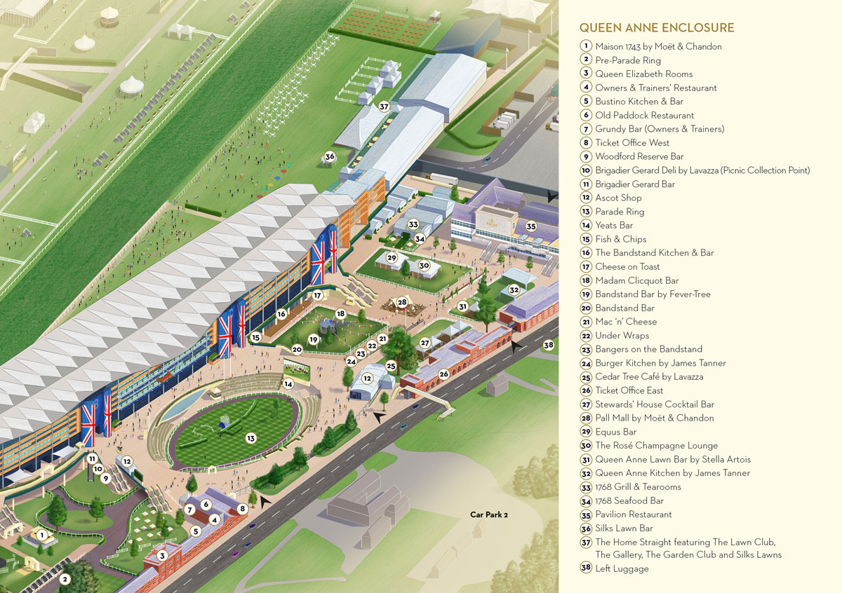 2019 Map of Royal Ascot Queen Anne Enclosure