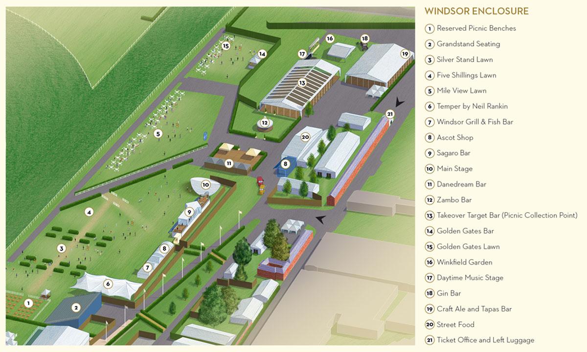 2019 Map of Royal Ascot Windsor Enclosure