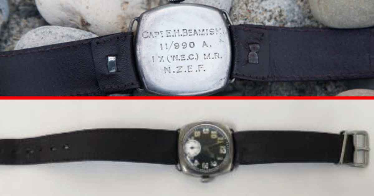 The watch of Major George 'Eric' Hamilton Beamish OBE VD, of the 9th Company, Wellington Mounted Rifles