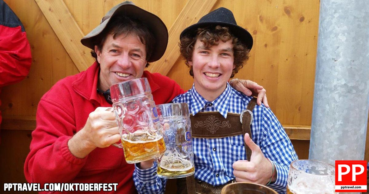 Munich Oktoberfest - Veteran Colin Dale and first-timer Max Harris tackle Oktoberfest